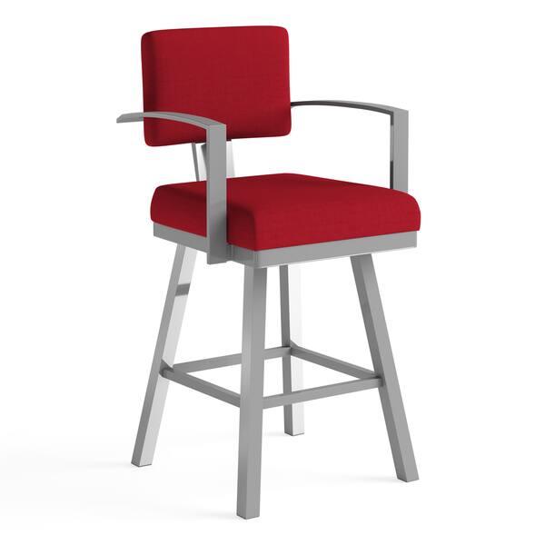 Fantastic Shop Amisco Akers Counter Swivel Metal Stool 26 Inch Free Creativecarmelina Interior Chair Design Creativecarmelinacom