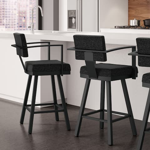 Amisco Akers Counter Swivel Metal Stool 26-inch