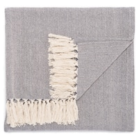 Havenside Home Ocean City Handmade Cotton Blue Throw