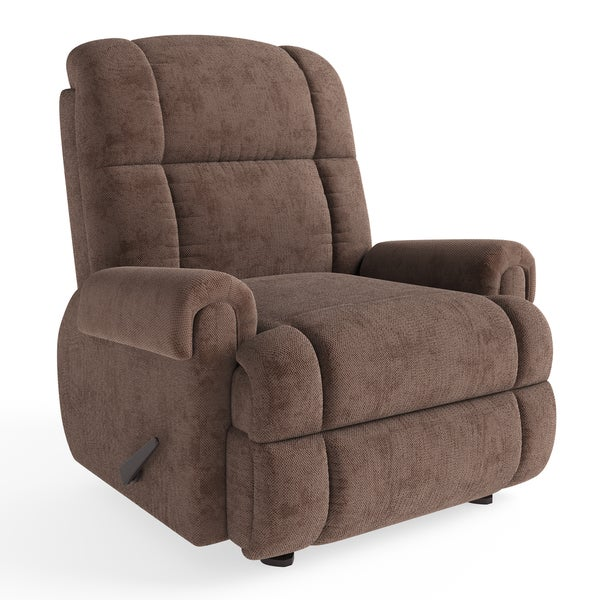 Shop Contemporary Tahoe Bark Chenille Rocker Recliner