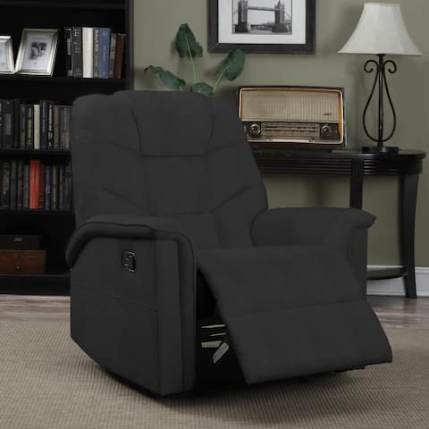 Copper Grove Jessie ProLounger Black Microfiber Wall Hugger Recliner