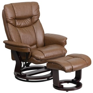Copper Grove Gunnison Modern Swivel Recliner and Ottoman