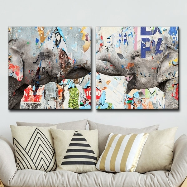 Clay Alder Home 'Saddle Ink Elephant VI' Canvas Wall Art Set