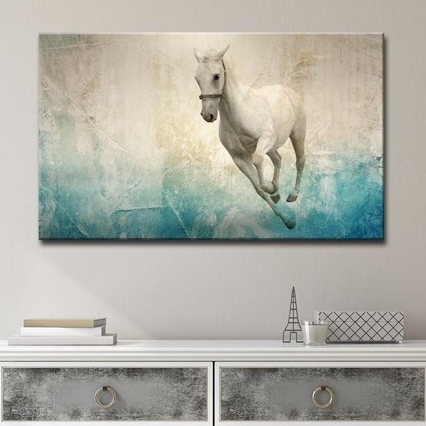 Shop Clay Alder Home \'Equestrian Saddle Ink PSVIII\' Canvas Wall Art ...