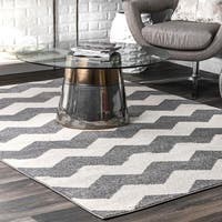 Clay Alder Home Colville Geometric Chevron Kids Rug - 5'3 x 7'9