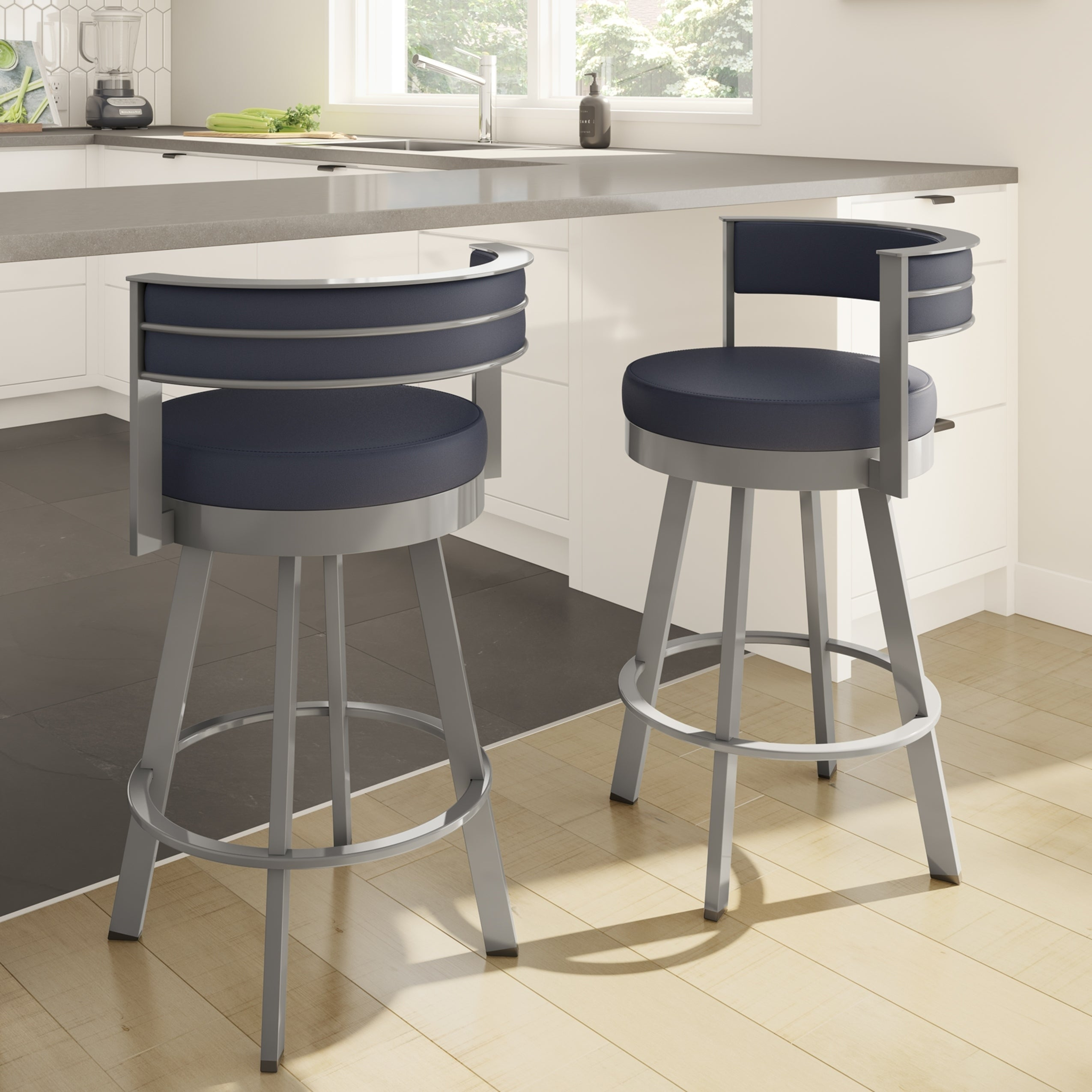 Admirable Strick Bolton Klykov Upholstered Back 26 Inch Swivel Metal Counter Stool Squirreltailoven Fun Painted Chair Ideas Images Squirreltailovenorg