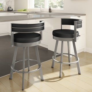 Strick & Bolton Klykov Upholstered Back 26-inch Swivel Counter Stool