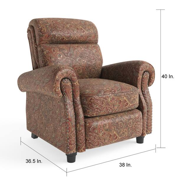 Superb Shop Copper Grove Jessie Prolounger Paisley Push Back Machost Co Dining Chair Design Ideas Machostcouk