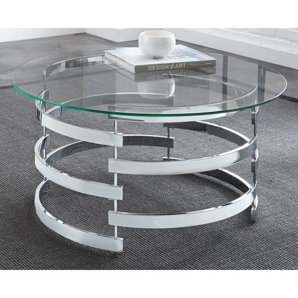 Silver Orchid Bardeen Round Coffee Table. Opens flyout.