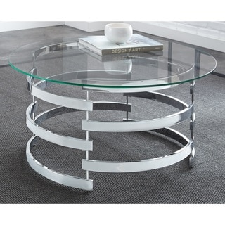 Silver Orchid Bardeen Round Coffee Table