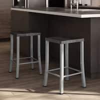 Carbon Loft Elmer Metal and Wood Counter Stool