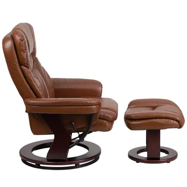 Tremendous Shop Copper Grove Gunnison Leather Recliner With Ottoman Ncnpc Chair Design For Home Ncnpcorg