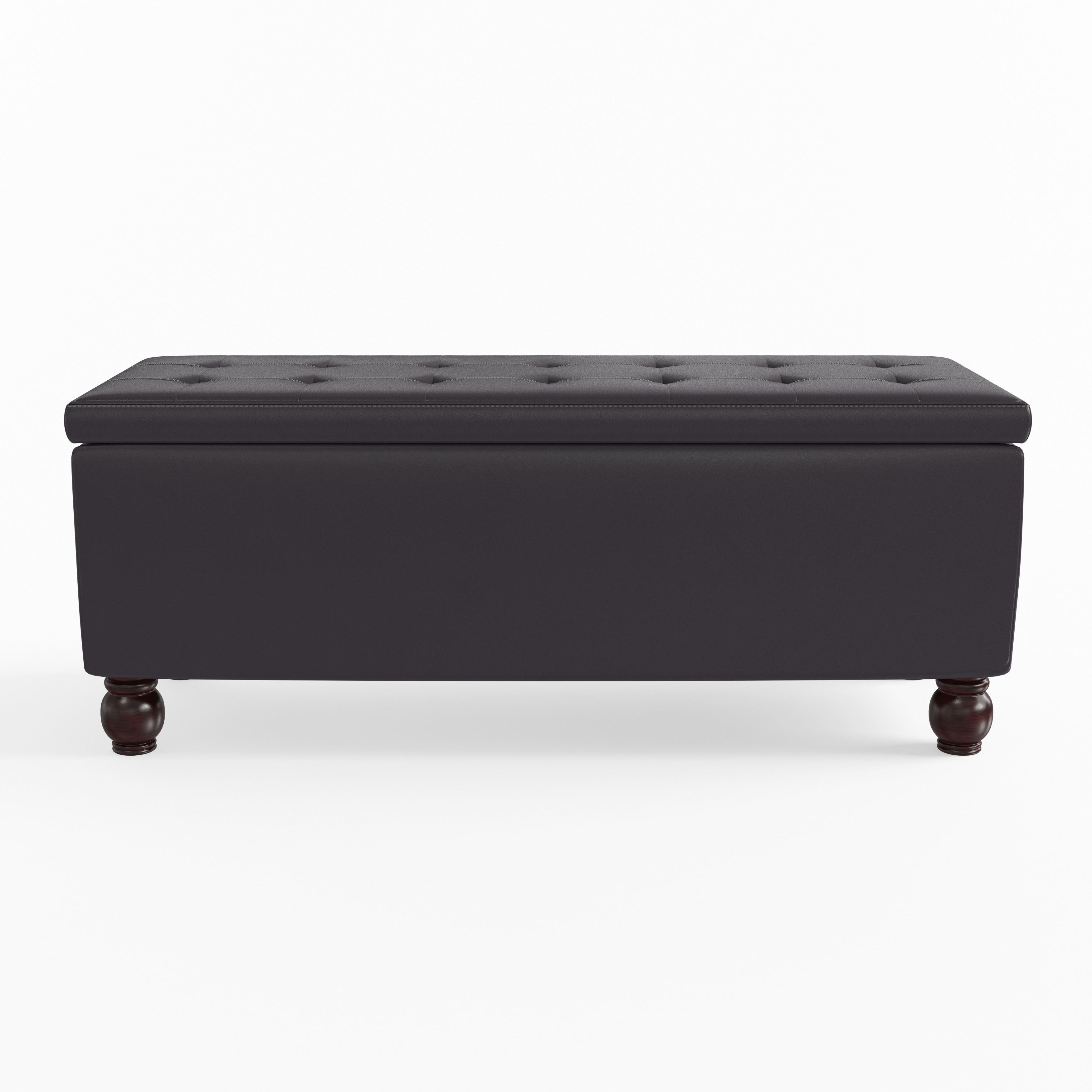 Copper Grove Tonto Bonded Leather Tufted Storage Ottoman Bench