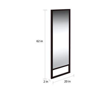 Porch & Den Hi-Line Stain Leaning Mirror