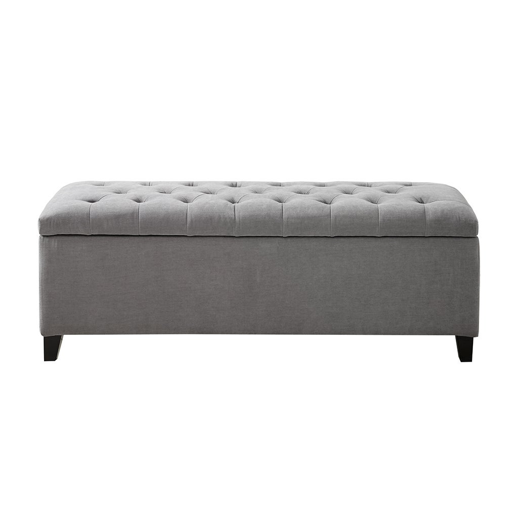 Copper Grove Campbell Sasha Grey Tufted Top Storage Bench On Sale Overstock 20255028