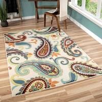 The Curated Nomad Felices Indoor/Outdoor Pampano Multicolor Area Rug