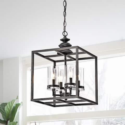 The Gray Barn 4-light Antique Black Lantern Chandelier