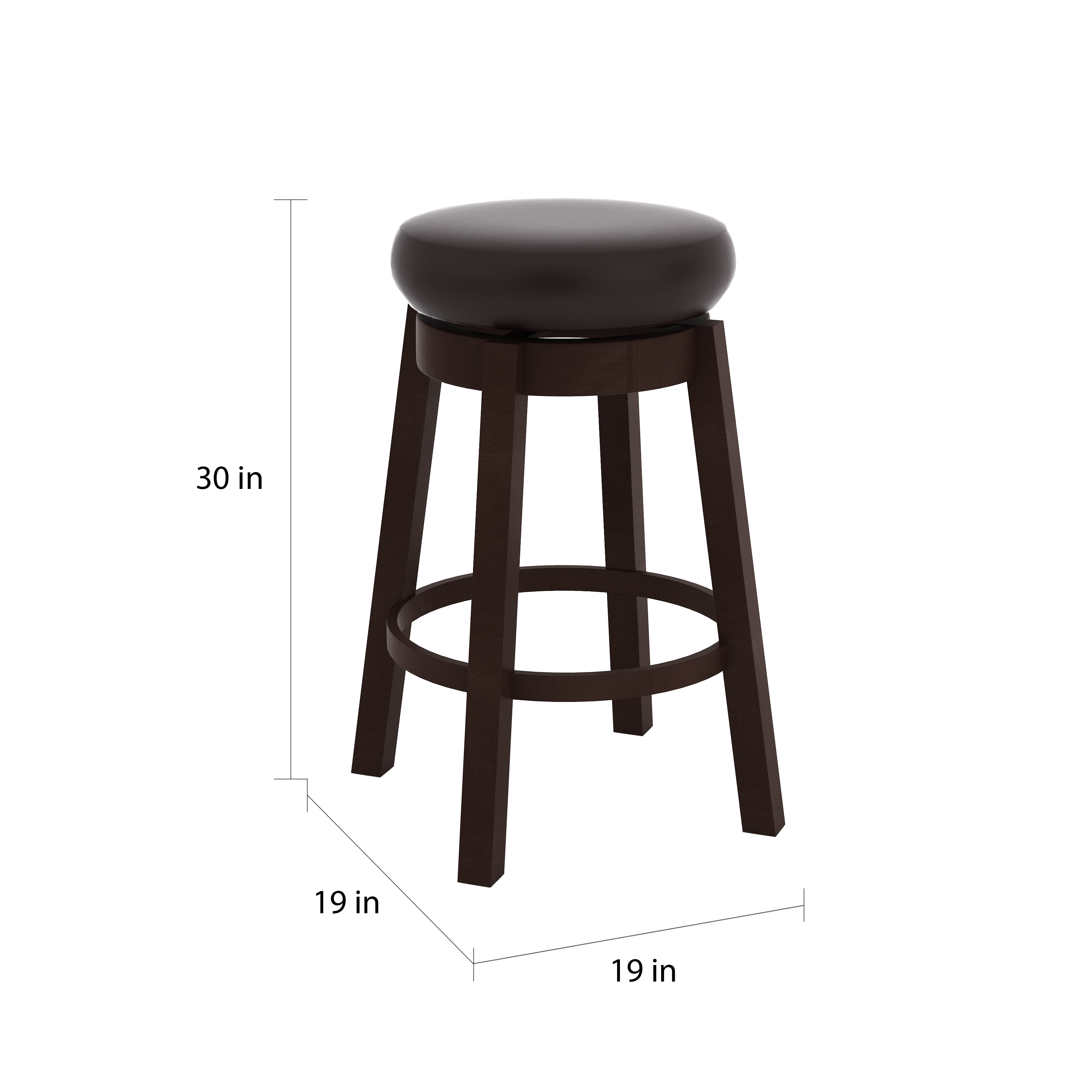 Copper Grove Humboldt Swivel Faux Leather Circle Bar Stools Set Of 2