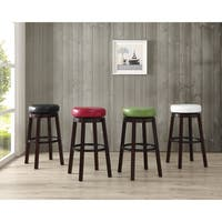 Copper Grove Terra Nova Swivel Faux Leather Circle Bar Stools (Set of 2)