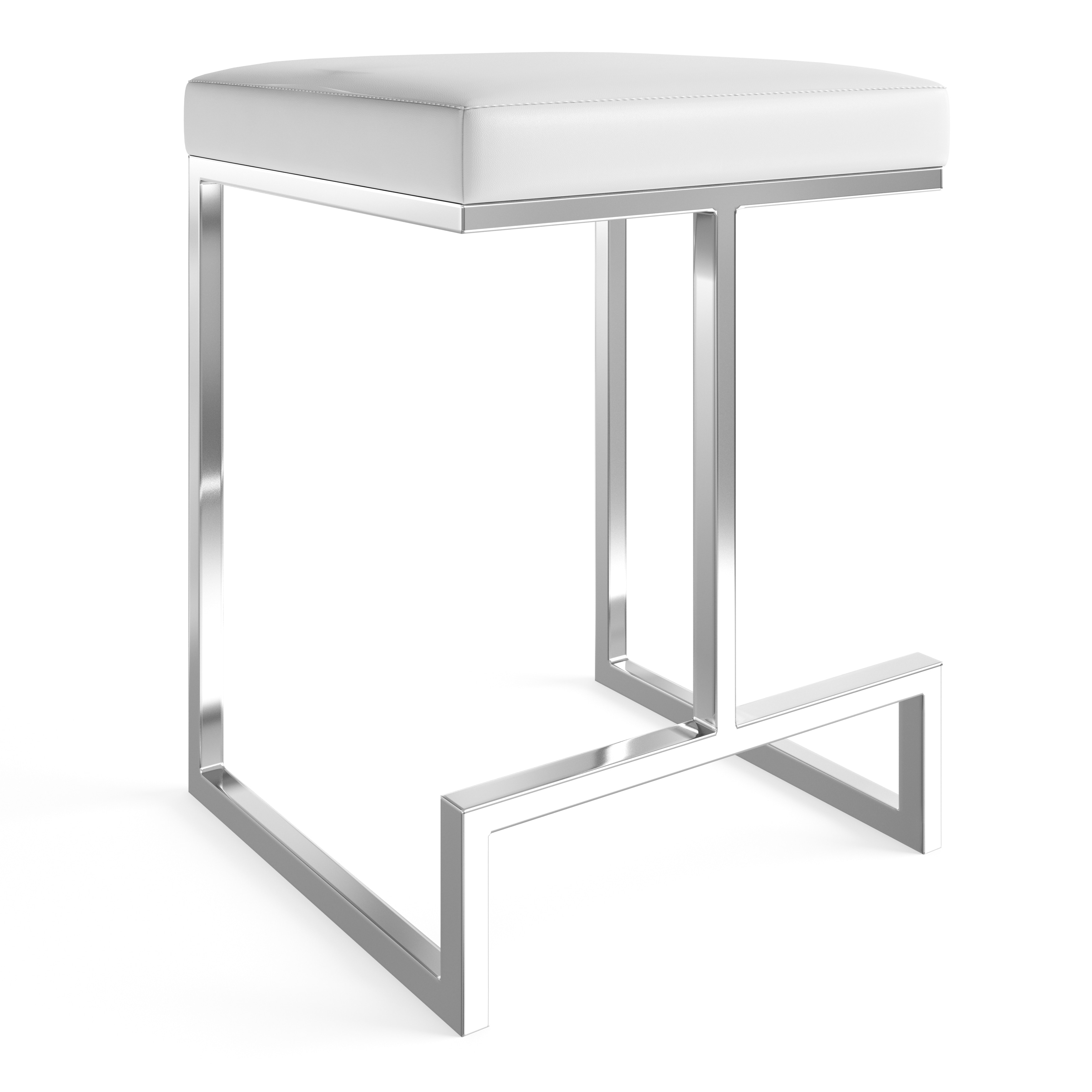 Enjoyable Strick Bolton Lucy Chrome Plated Metal Base 24 Inch Counter Height Stool Pabps2019 Chair Design Images Pabps2019Com