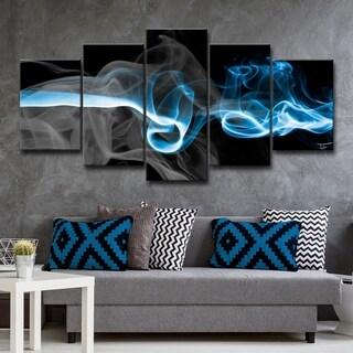 Clay Alder Home 'Glitzy Mist I' by Tristan Scott Canvas Art Set - Black/Blue