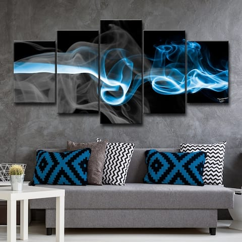 Porch & Den 'Glitzy Mist I' by Tristan Scott Canvas Art Set