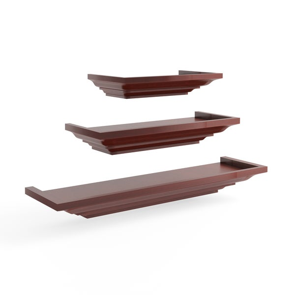 shop clay alder home beeson level line wood floating shelves 3 rh overstock com Yellow Level Digital Level