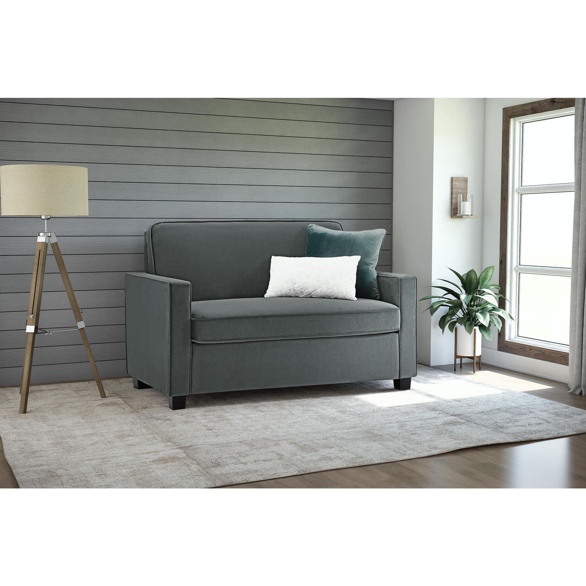 - Shop Copper Grove Kurdica Grey Velvet Twin Sleeper Sofa