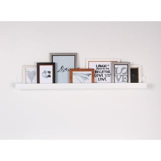Porch & Den Bear Solid-colored Wood Modern Floating Wall Shelf Picture Frame Holder Ledge