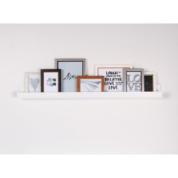 Porch & Den Bear Solid-colored Wood Modern Floating Wall Shelf Picture Frame Holder Ledge. Opens flyout.