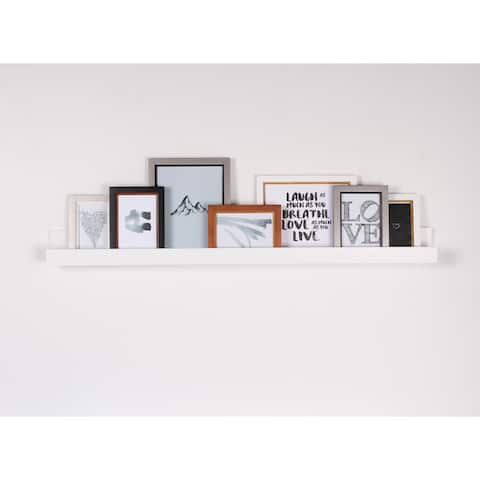 4868794beb Porch   Den Bear Solid-colored Wood Modern Floating Wall Shelf Picture Frame  Holder Ledge