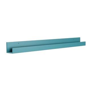 Clay Alder Home Bear Solid-colored Wood Modern Floating Wall Shelf Picture Frame Holder Ledge