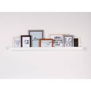 Porch & Den Bear Solid-colored Wood Modern Floating Wall Shelf Picture Frame Holder Ledge