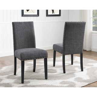 Clay Alder Home Humboldt Nailhead-trim Fabric Dining Chairs (Set of 2)