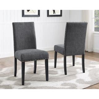 Clay Alder Home Humboldt Nailhead Trim Fabric Dining Chairs Set Of 2