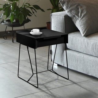 Furniture of America Omer Mid-century Modern Metal 1-drawer Side Table