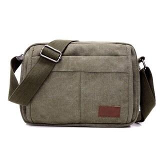 Unisex Multifunctional Crossbody Canvas Messenger Bag