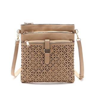 Filigree Four-Zip Crossbody Bag (2 options available)