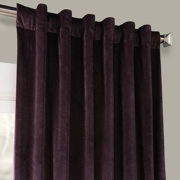 McAlister Textiles Luxury Soft Matt Velvet Lilac Heather Purple Pair of Curtains