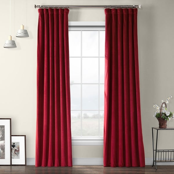 Exclusive Fabrics Heritage Plush Velvet Sing Curtain Panel. Opens flyout.