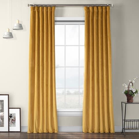 Exclusive Fabrics Heritage Plush Velvet Sing Curtain Panel