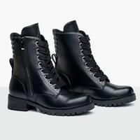 Capezio Womens Swag Flat Sole Combat Boot (610W)
