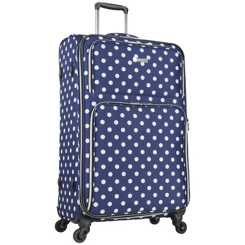 Heritage Albany Park 28-Inch Polka Dot Expandable Spinner Upright Checked Suitcase