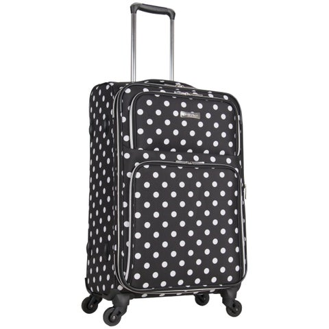 Heritage Albany Park 24-Inch Polka Dot Expandable Spinner Upright Checked Suitcase