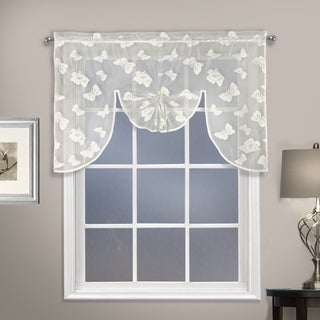 "Madame 52"" X 38"" CURTAIN SWAGGER TOPPER Natural"