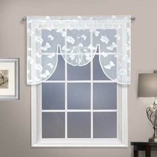 "Madame 52"" X 38"" CURTAIN SWAGGER TOPPER White"