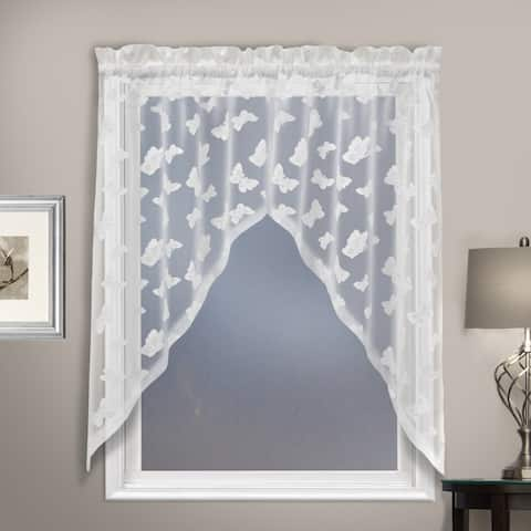 Luxury Collection Madame Semi-Sheer Single Curtain Panel - 36 inches - 36 inches