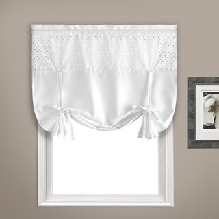 "Vienna Curtain Topper 40"" X 63"" White Tie-up"