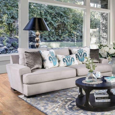 Furniture of America Matz Contemporary Grey Fabric Upholstered Sofa
