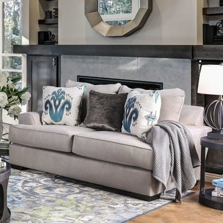 Furniture of America Wendell Contemporary Chenille Grey Loveseat